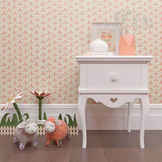 Pochoir chambre bebe amazing pochoir mural chambre de bb chambre mur au pochoir motif floral - Pochoir mural chambre ...
