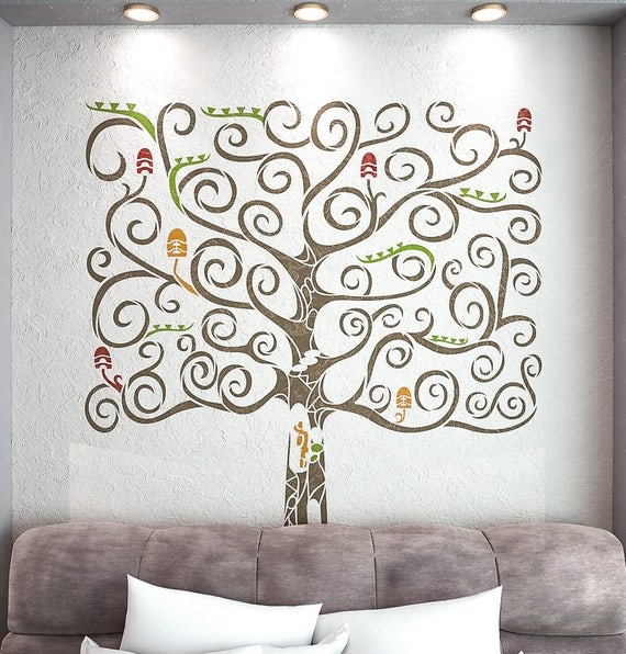 Fantasy Tree Stencil For Walls Large Wall