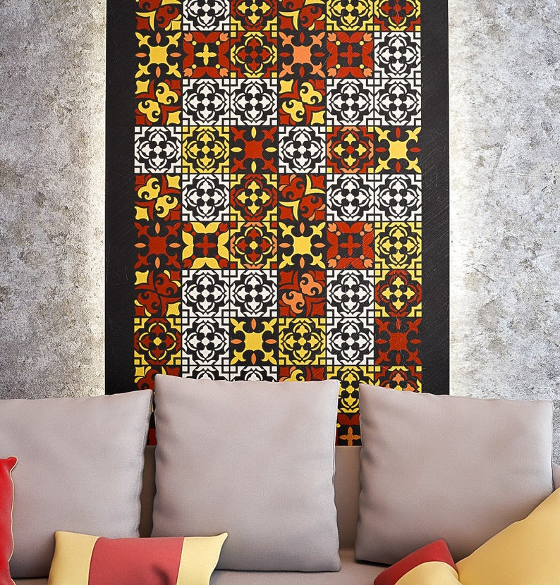 Large Stencil For Paint Allover Wall Stencils Stencil for painting Tiles Pattern Wall Stencil Large