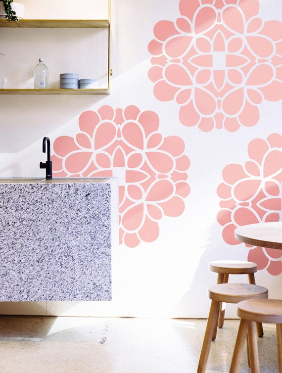 Flower of Life II wall stencil Scandinavian wall accent Geometric stencil