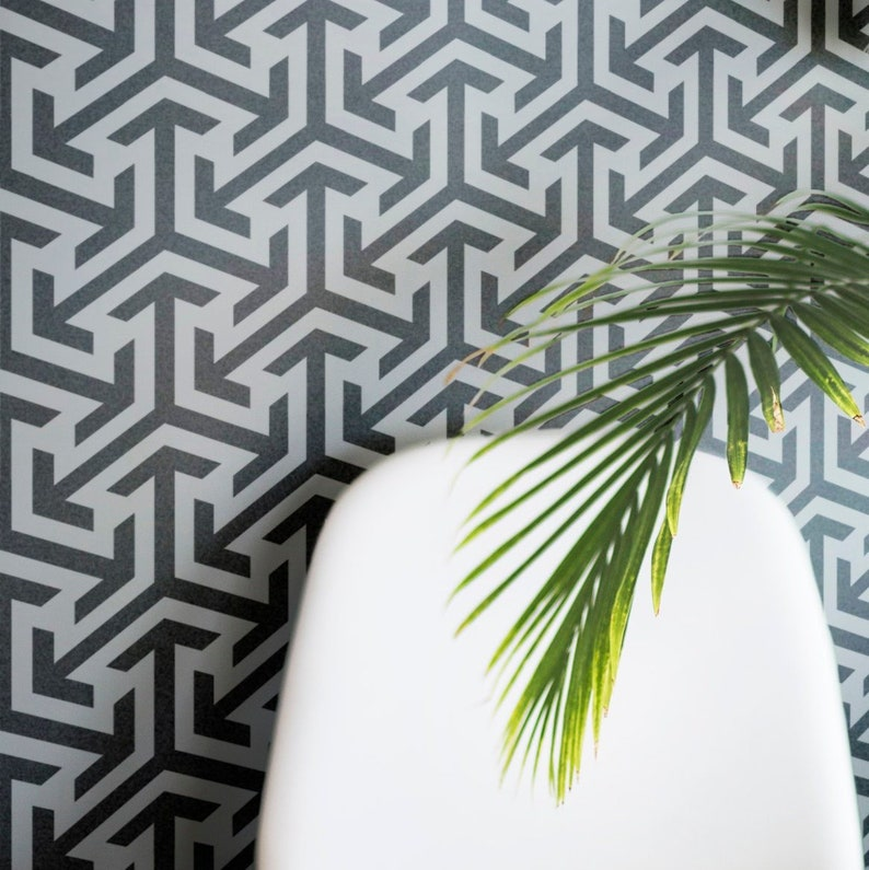 Modern Wall Stencils Allover Wall Paint Stencils Geometric Pattern Stencil For Painting