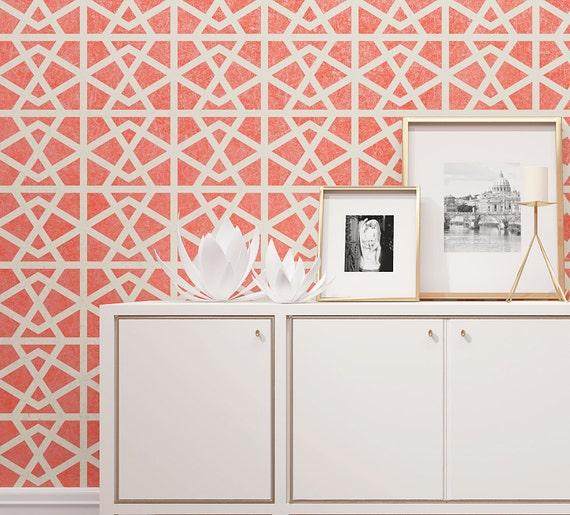 PHILOMENA Wandmalerei Schablone Geometrische Muster Für | Etsy