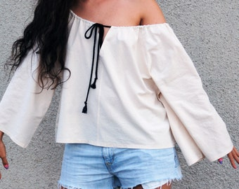 8af9bca8f Karolina blouse | Off shloulders blouse for summer / Loose off shoulders  blouse / Loose blouse / Maternity blouse / Pastel summer blouse