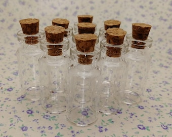 100pcs 35x16mm clear glass bottle with cork , empty glass jar vial charm pendant , B2009