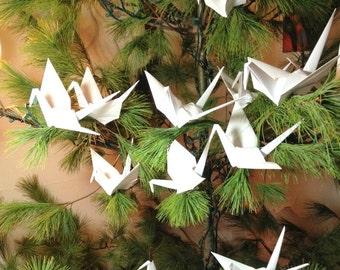 Large 9 Inch Tree Cranes, Origami Wedding, White Peace Crane, Origami Ornaments, Origami Decorations, Origami Cranes, Photo Backdrop