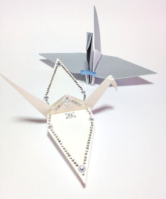 Medium 8 Bride And Groom Origami Centerpieces Bride Etsy