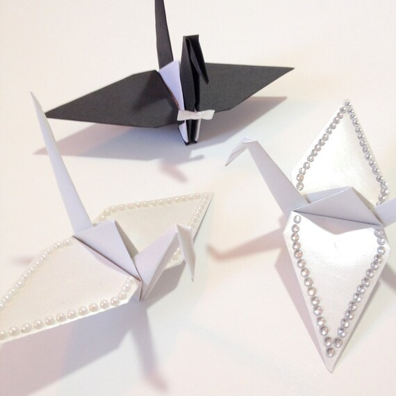 Origami Cake Toppers Small Bride Groom Crane