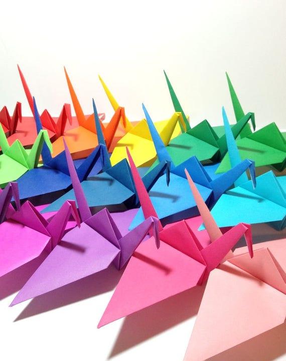 Custom Size Origami Giant Origami Cranes Set Decorations Etsy