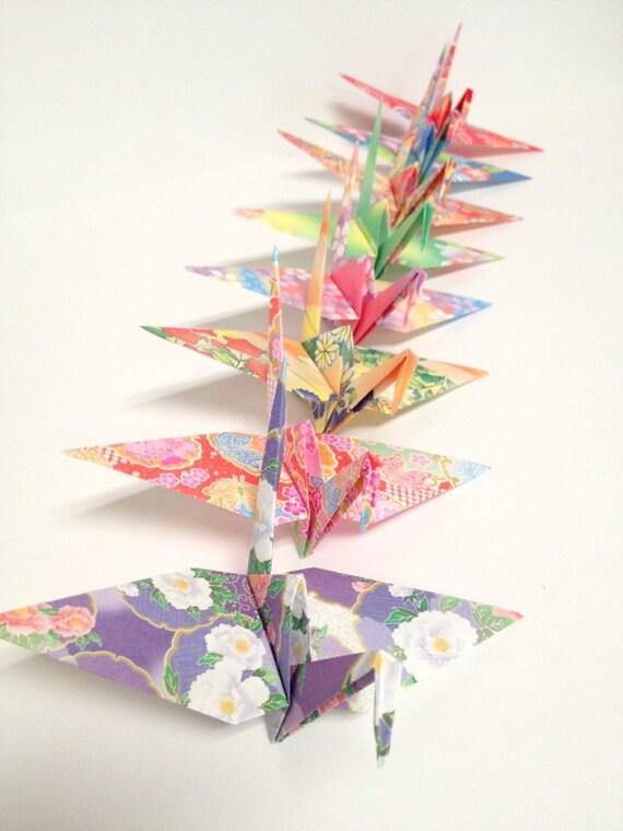 Paper crane chopstick holders | 760x570