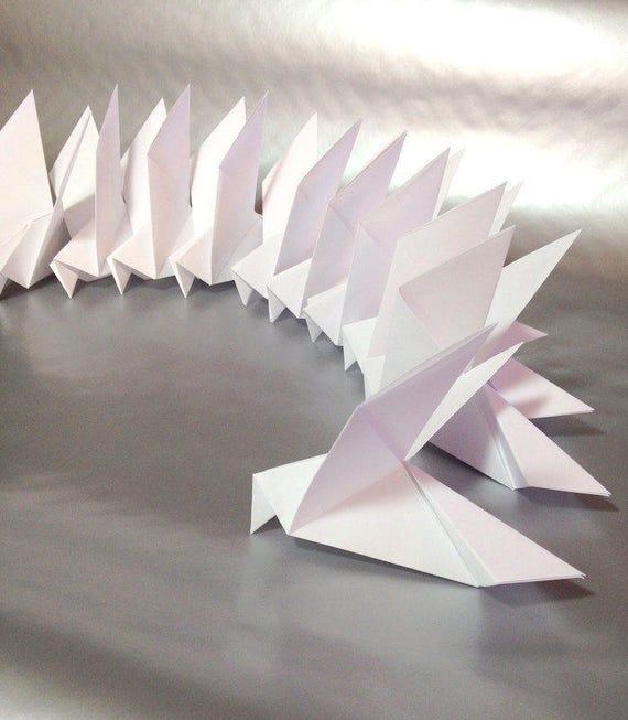 Origami Peace Dove Instructions in 2020 | Origami dove, Origami ... | 653x570