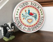 Hex Sign, Bird of Paradise Hex Sign, Good Luck Hex, Folk Art, Love and Happiness Hex Sign, Pennsylvania Dutch Hex Sign, PA Dutch, Hex