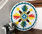 Hex Sign, Mighty Oak Hex Sign, Acorns Hex Sign, Oak Leaf, Folk Art, Strength Hex Sign, Pennsylvania Dutch Hex Sign,PA Dutch, Hex, Wall Decor