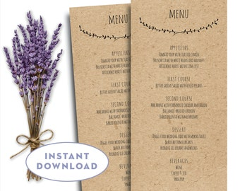 Editable Menu Template Microsoft Word Menu Card Wedding Menu