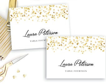 Place Card Template | Place Card Template Folded Place Cards Instant Download Etsy