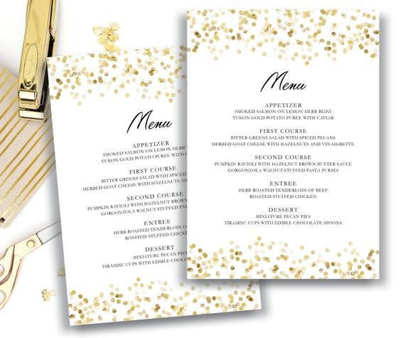menu template editable text microsoft word menu card etsy