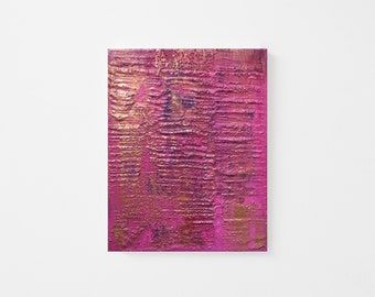 Original Palette-knife Abstract Acrylic Painting - Textured Acrylic Abstract Painting - Pink Gold Abstract Art - Contemporary Abstract 8x10