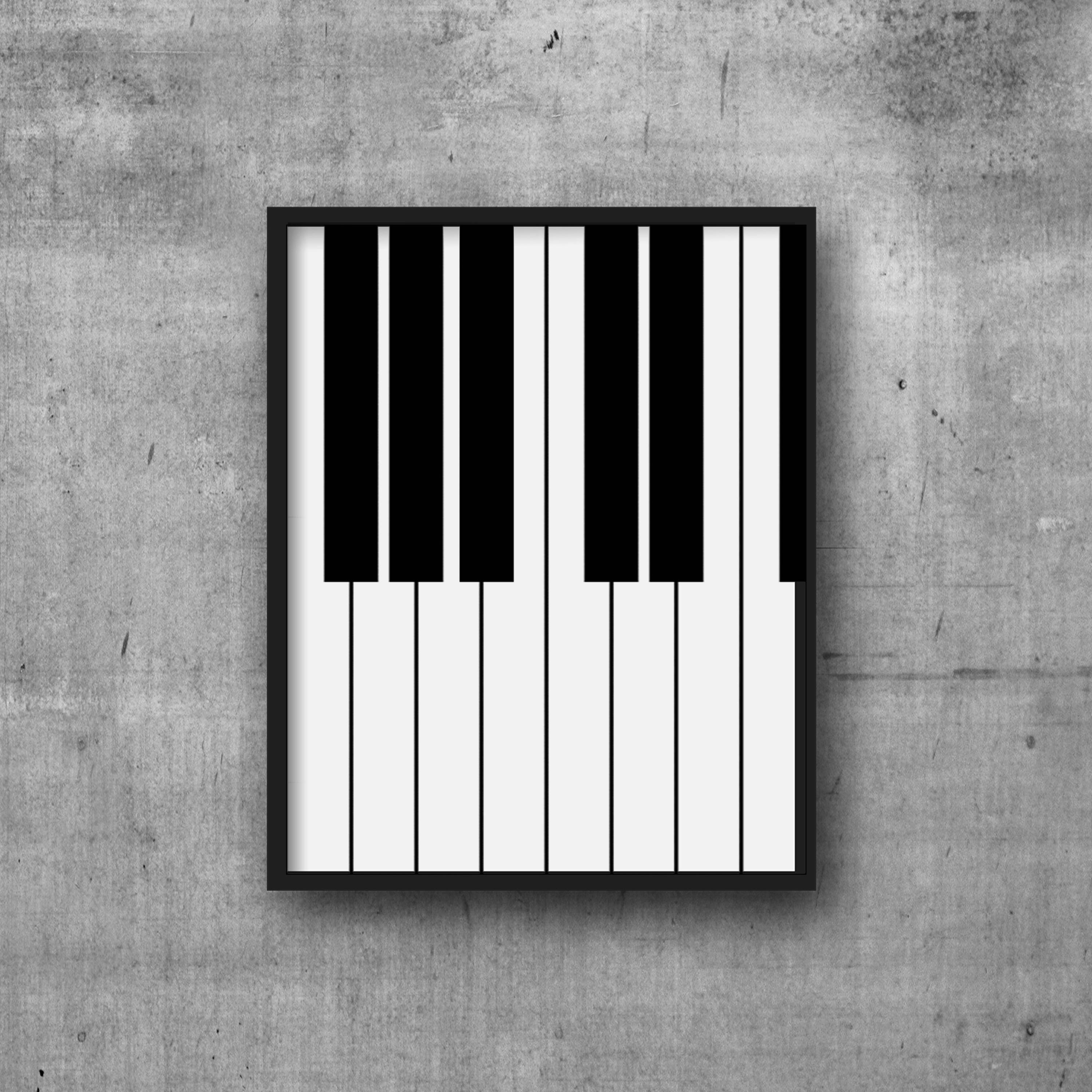 image relating to Printable Piano Keys named Printable Black White Piano Keys Audio Artwork Print - Immediate Electronic Obtain New music Piano Wall Artwork Poster - Printable Minimalist Piano Print