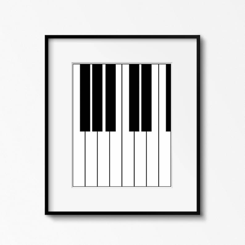 picture relating to Printable Piano Keyboard known as Printable Black White Piano Keys Tunes Artwork Print - Fast Electronic Obtain Songs Piano Wall Artwork Poster - Printable Minimalist Piano Print