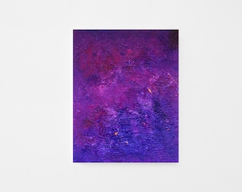 Shipped Abstract Art Print - Contemporary Abstract Art - Shipped Art Print - Blue Purple Red Acrylic Abstract Art Print - Shipped Art Print
