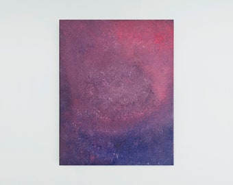 Original Abstract Oil Painting - Contemporary Textured Abstract Floral Oil Painting on Canvas - Blue Pink Purple Oil Abstract Painting 11x14