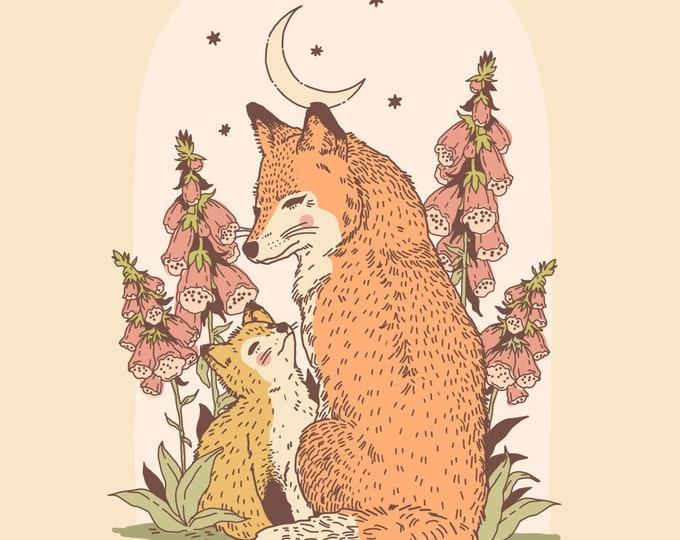 Fox and Kit Giclee Print