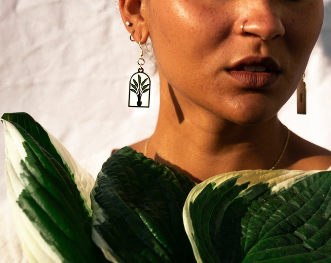 Gold Bird of Paradise Earrings