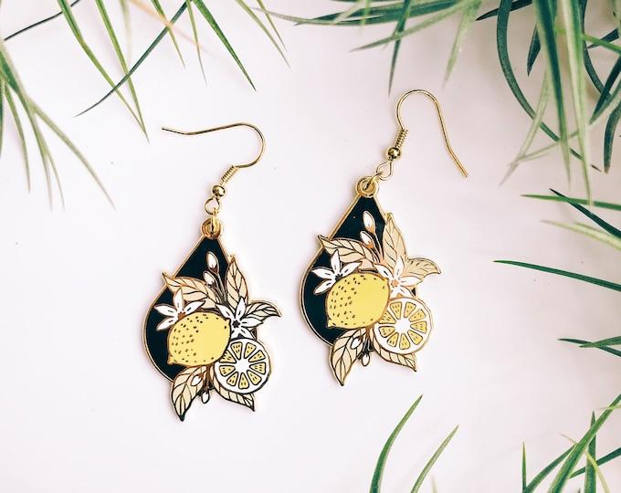 lemon drop gold plated earrings