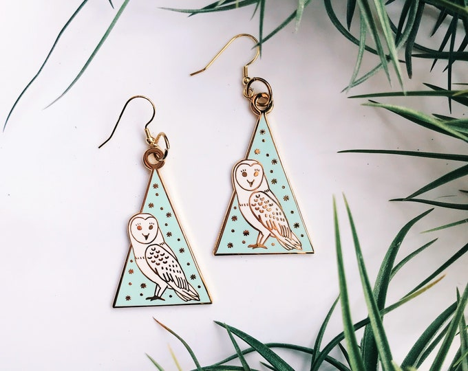 wise owl gold plated earrings *SOLD OUT*