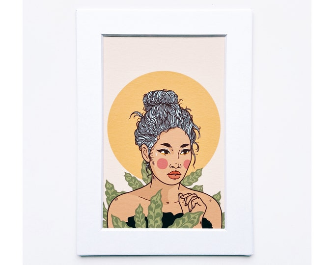 4x6 Giclee print- Portrait of a woman 8
