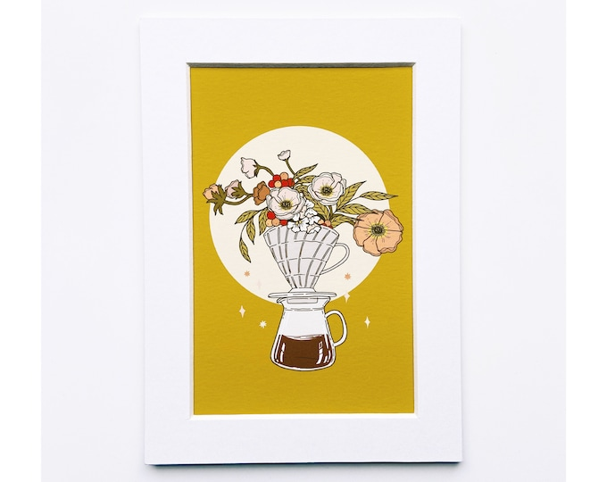 4x6 Giclee print- pour over