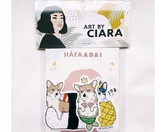 Dog Pack vinyl Sticker pack