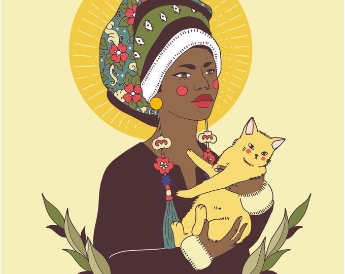 Our lady of Cats Giclee Print