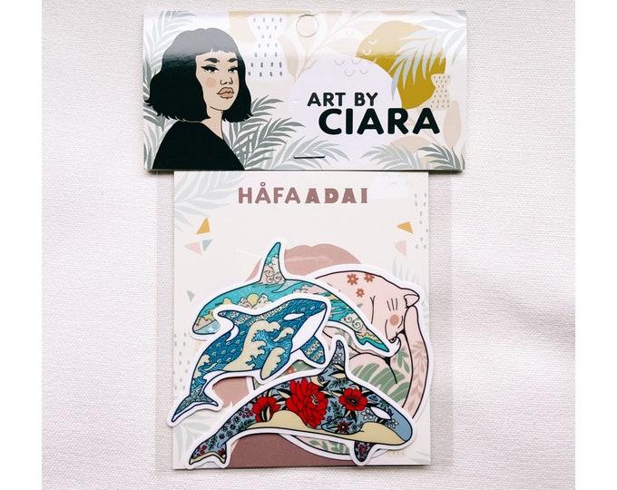 Orca Pod (with bonus sticker) vinyl Sticker pack