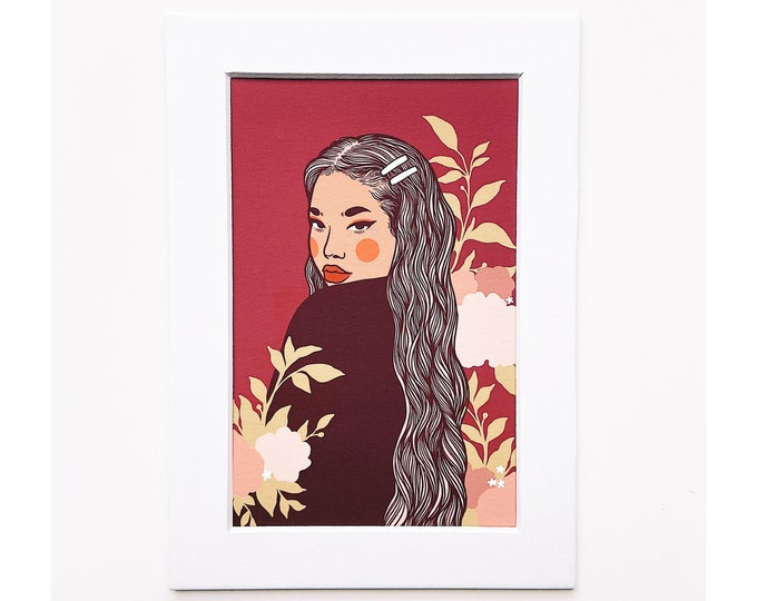 4x6 Giclee print- Portrait of a woman 2