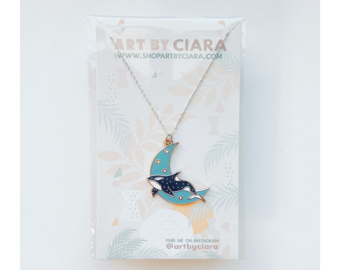 Silver Celestial Orca Necklace
