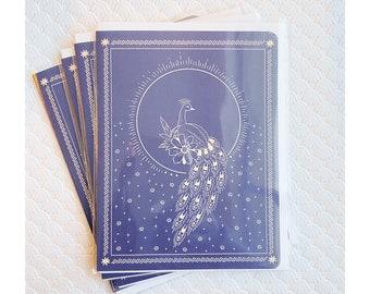 Greeting Cards 4pk- Peacock
