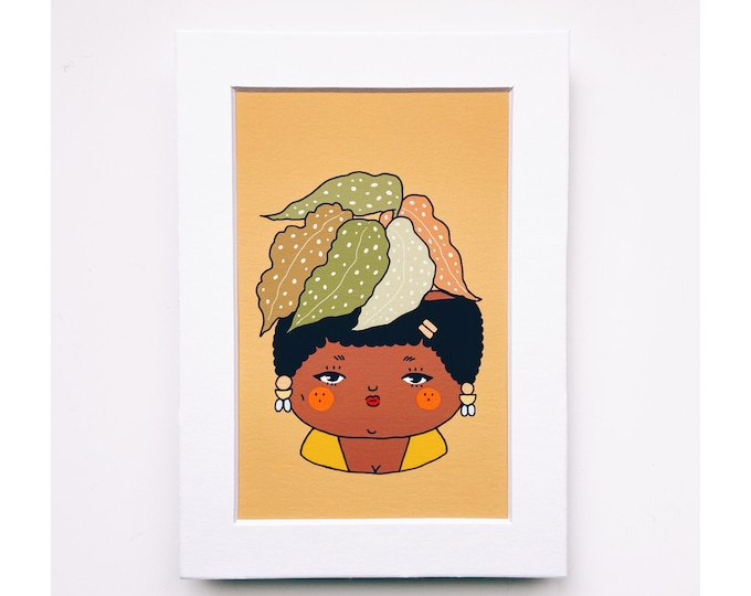 4x6 Giclee print- Begonia Plant People