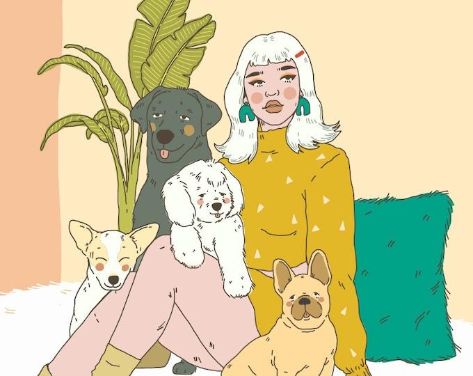 Dog Mom Giclee Print