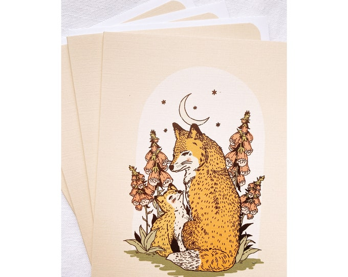Fox and pup Greeting Card