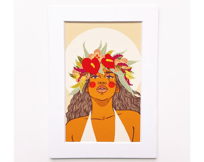 4x6 Giclee print- Portrait of a woman 3