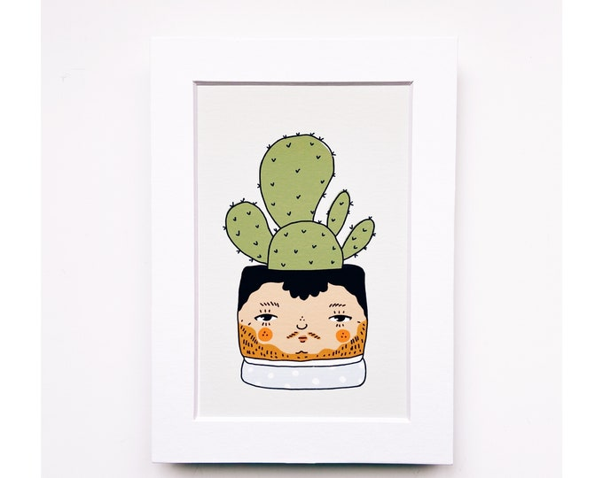 4x6 Giclee print- Cacti Plant People