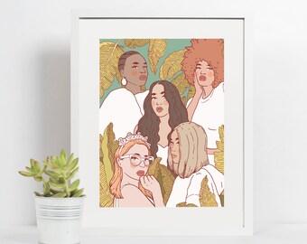 4x6 Giclee print- Women's day