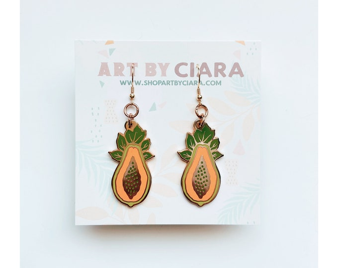 Gold Papaya Earrings