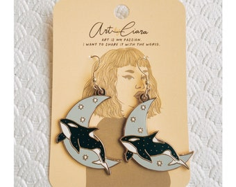 Celestial Orca Earrings