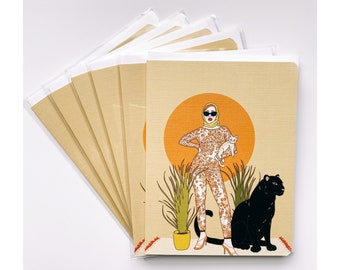 Greeting Cards 6pk- Cat Lady