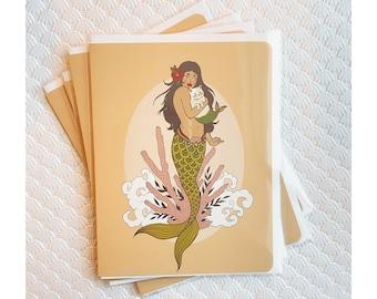 Greeting Cards 4pk- Sirena Purrmaid