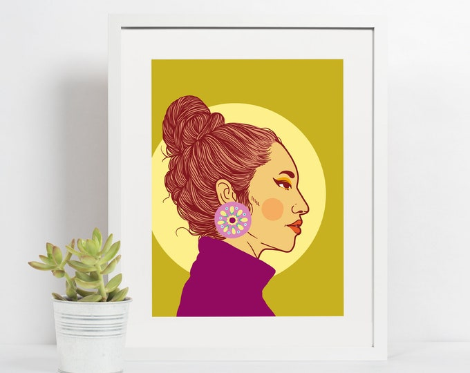 4x6 Giclee print- Portrait of a woman 5