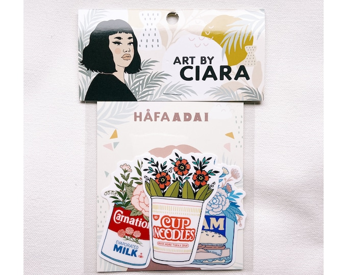 Nostalgic Foods vinyl Sticker pack