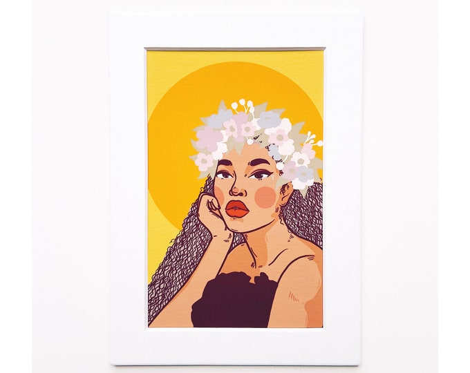 4x6 Giclee print- Portrait of a woman 1