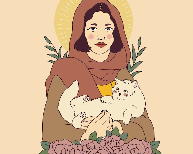 Cat Saint Giclee Print